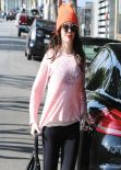 Rose McGowan in Tights  - Goes to the Gym in West Hollywood - December 2013