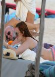 Rumer Willis in a Bikini  - Beach in Miami, December 2013