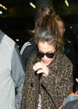 Selena Gomez Street Style - Arriving in Chicago - December 2013