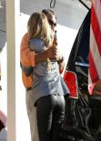 Stacy Fergie Ferguson Style - in Leather Pants - Party in Brentwood