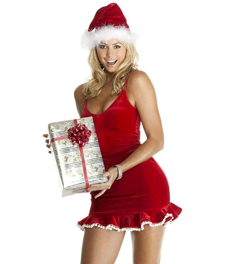 Stacy Keibler Santa Claus Photoshoot