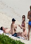 Stephanie Seymour in a Floral Bikini – St Barts December 28, 2013