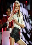 Taylor Swift in Leather Hotpants Performing in Concert in Sydney - December 2013