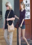 Taylor Swift Shows off Her Legs in Tinny Shorts - Out in Auckland - December 2013