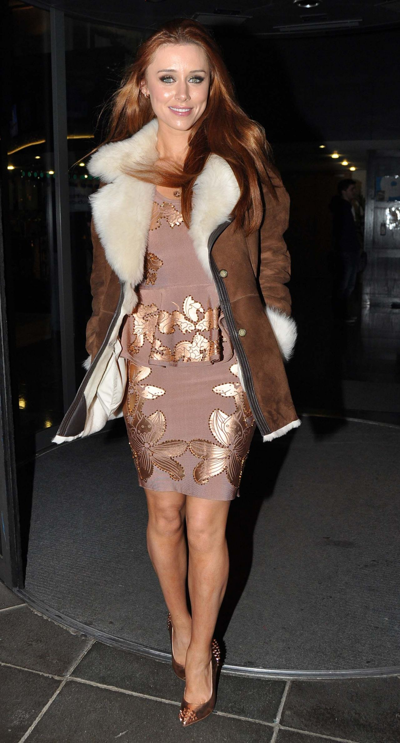 "Una Healy Style - RTE Studios For ""Late Late Show"" in Dublin - December 2013"