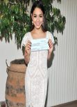 Vanessa Hudgens - Accepting a $100K relief check on behalf of UNICEF in Los Angeles - Dec. 2013