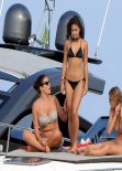 Vanessa Hudgens in a Bikini - on a Boat in Ischia -  20+ Hi-Res Photos