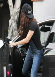 Vanessa Hudgens Street Style - In Jeans Out in Los Angeles - December 2013