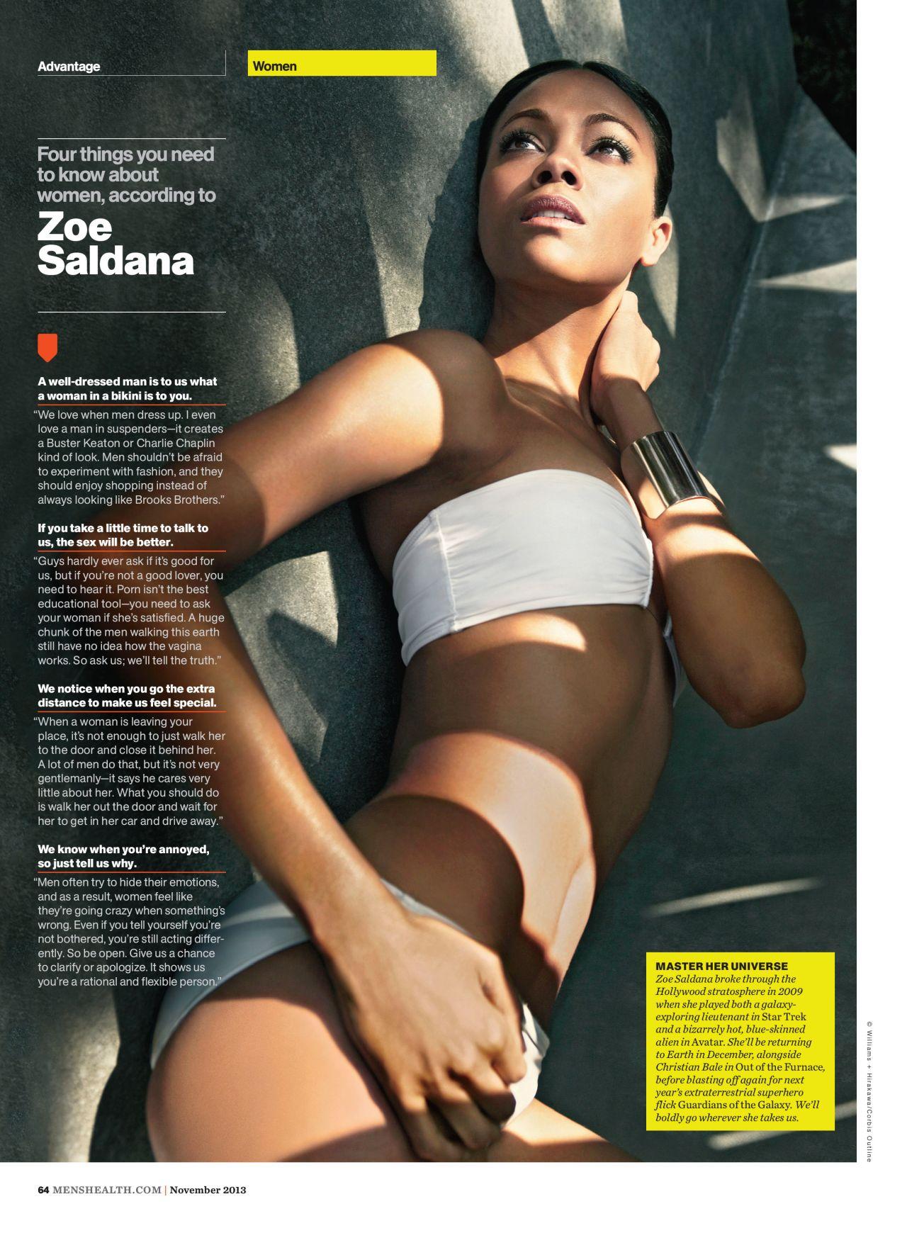 Zoe Saldana - MEN