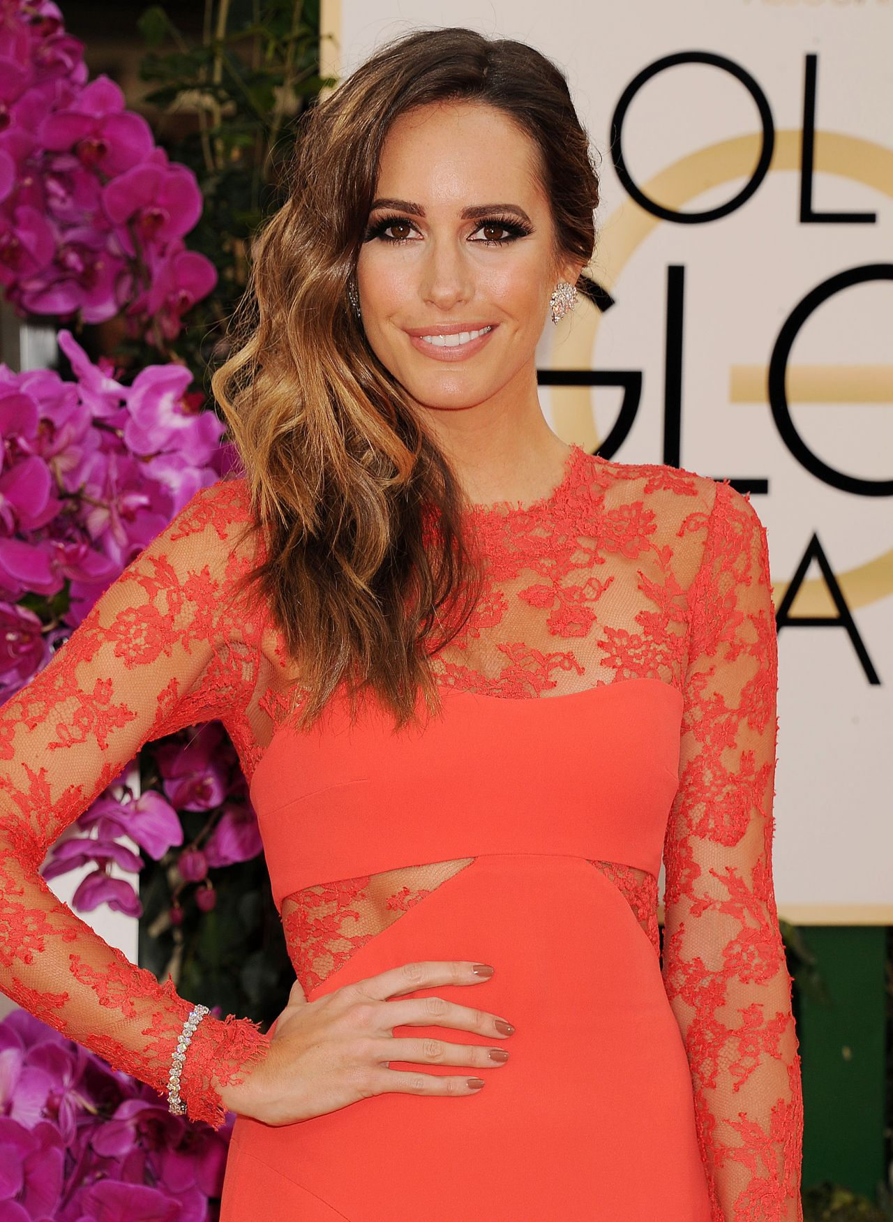 Louise Roe at 71st Annual Golden Globe Awards, January 2014