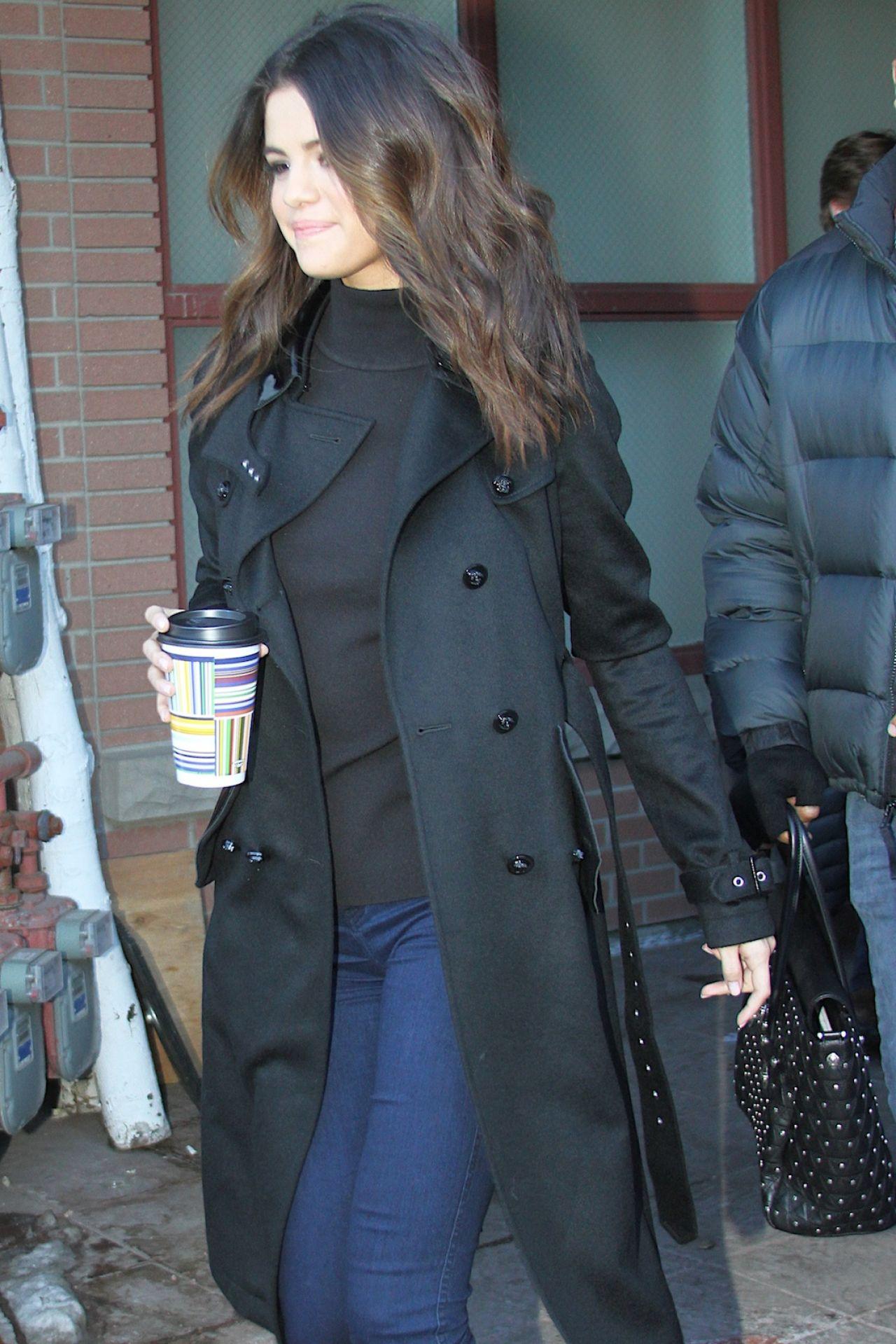 Selena Gomez Street Style Park City January 20 2014
