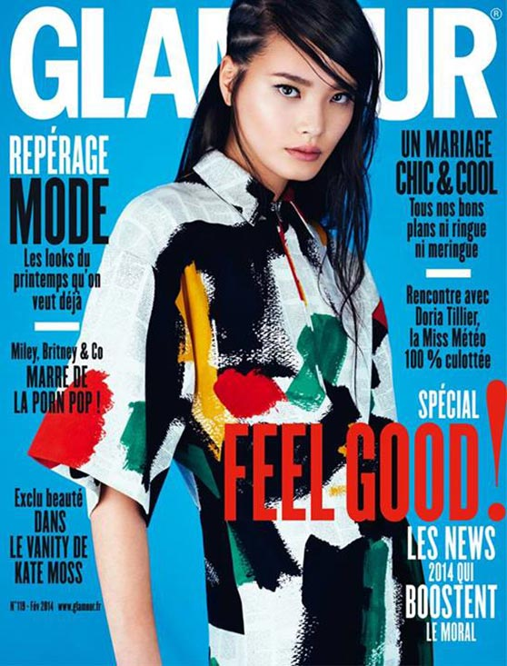 Li Wei - GLAMOUR Magazine (France) - February 2014 Issue