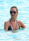 Lady Victoria Hervey in Bikini at a Beach in Carribean