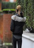 Abbey Clancy Street Style - North London - January 9, 2014