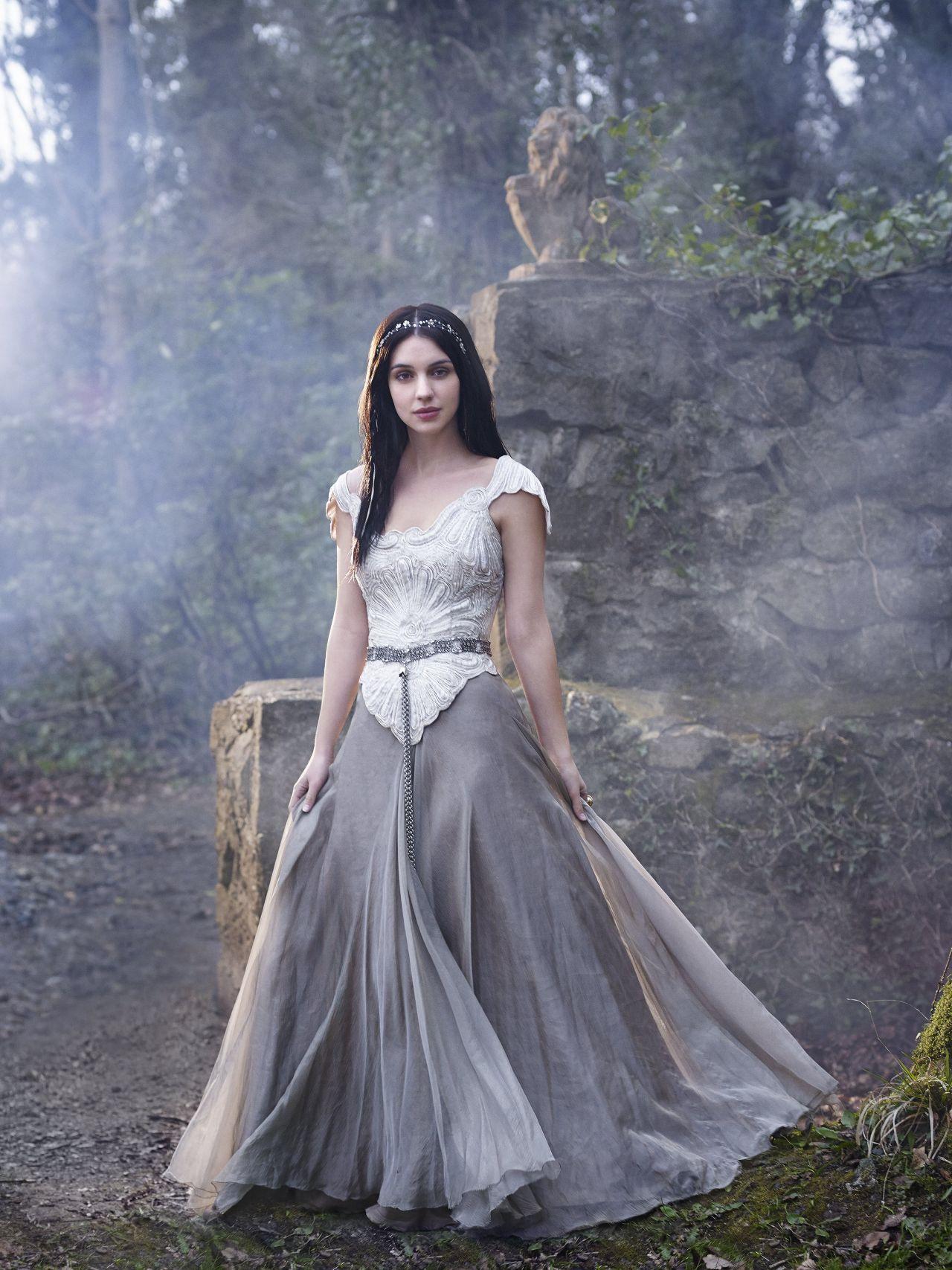 Adelaide kane reign tv series promoshoot for Reign mary wedding dress