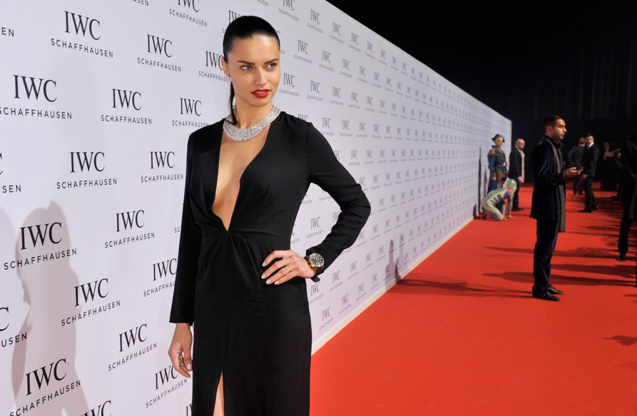 Adriana Lima Attends IWC Schaffhausen Aquatimer Watch Collection Launch in Switzerland, January 2014