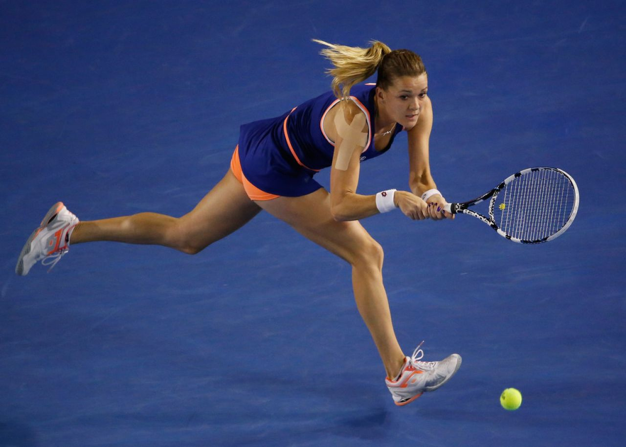 Agnieszka Radwanska - Australian Open in Melbourne, January 20, 2014
