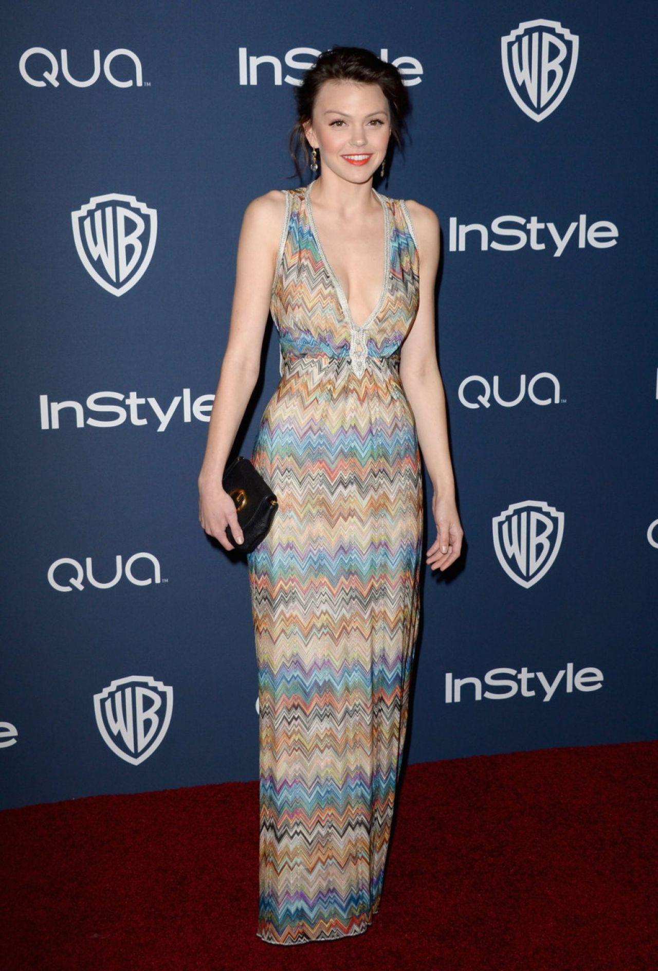 Aimee Teegarden - InStyle & Warner Bros. 2014 Golden Globes Afterparty in Beverly Hills