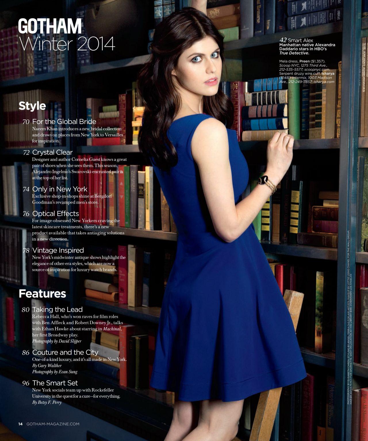 Alexandra Daddario - GOTHAM Magazine - Winter 2014