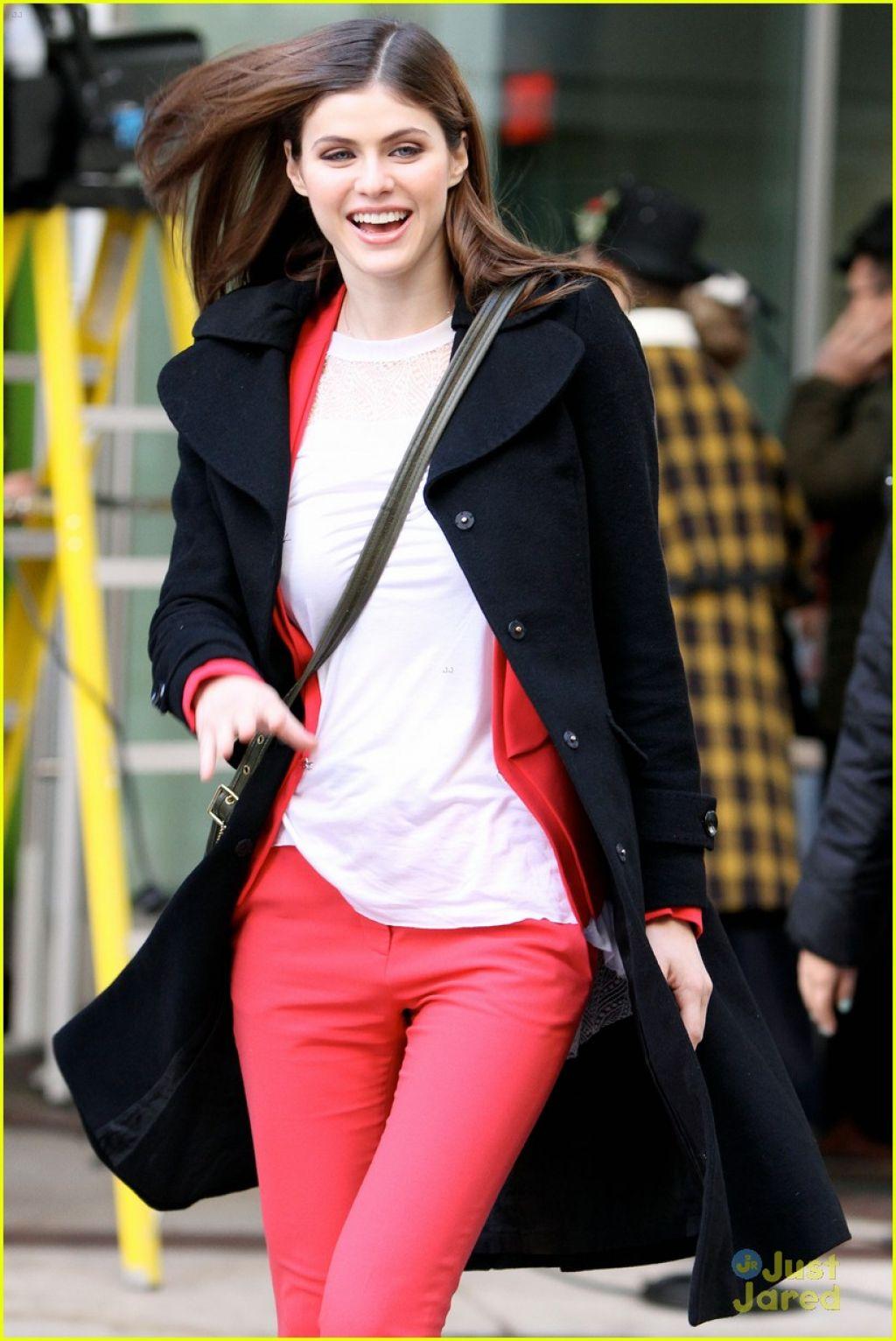 Alexandra Daddario Street Style - at Global