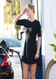 Ali Larter Street Style - Leggy, at a Gas Station in Los Angeles, January 2014