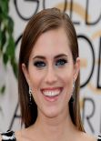 Allison Williams at 2014 Golden Globe Awards