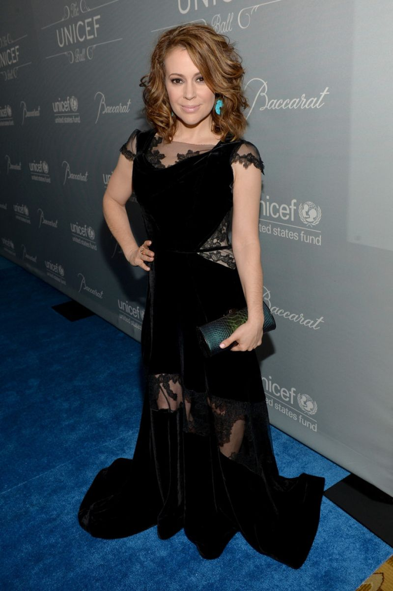 Alyssa Milano at The 2014 UNICEF Ball in Beverly Hills
