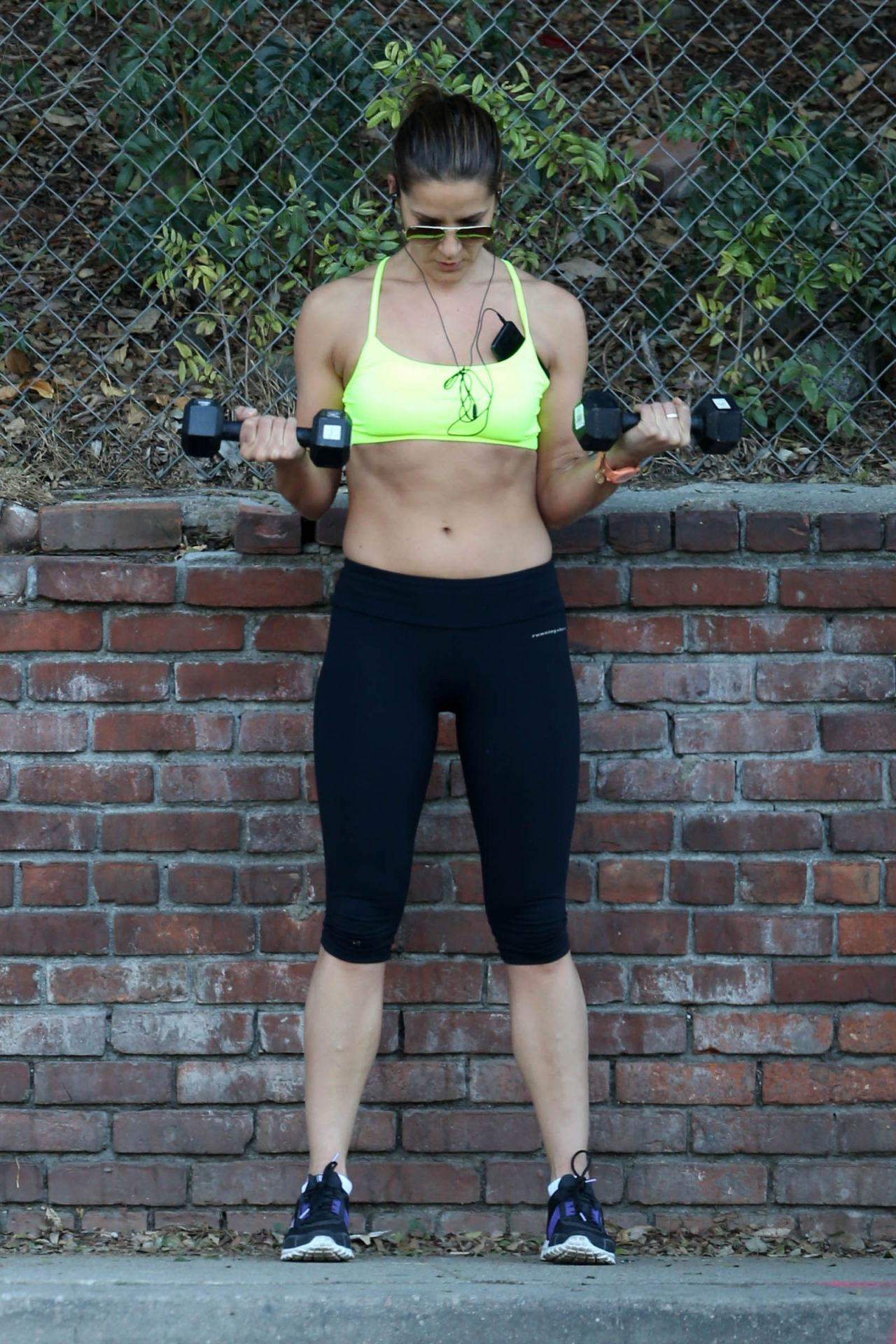 Amanda Byram - Get in a Workout - Santa Monica, January 2014