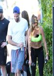 Amanda Byram - Get in a Workout - Santa Monica, January 2014