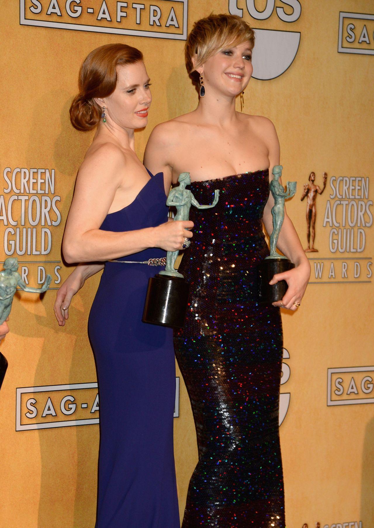 Amy Adams Wears Antonio Berardi Dress at 2014 SAG Awards | 1280 x 1808 jpeg 303kB