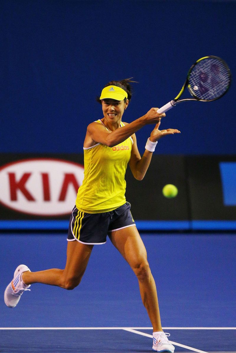 Ana Ivanovic - Practice Session in Melbourne, January 2014
