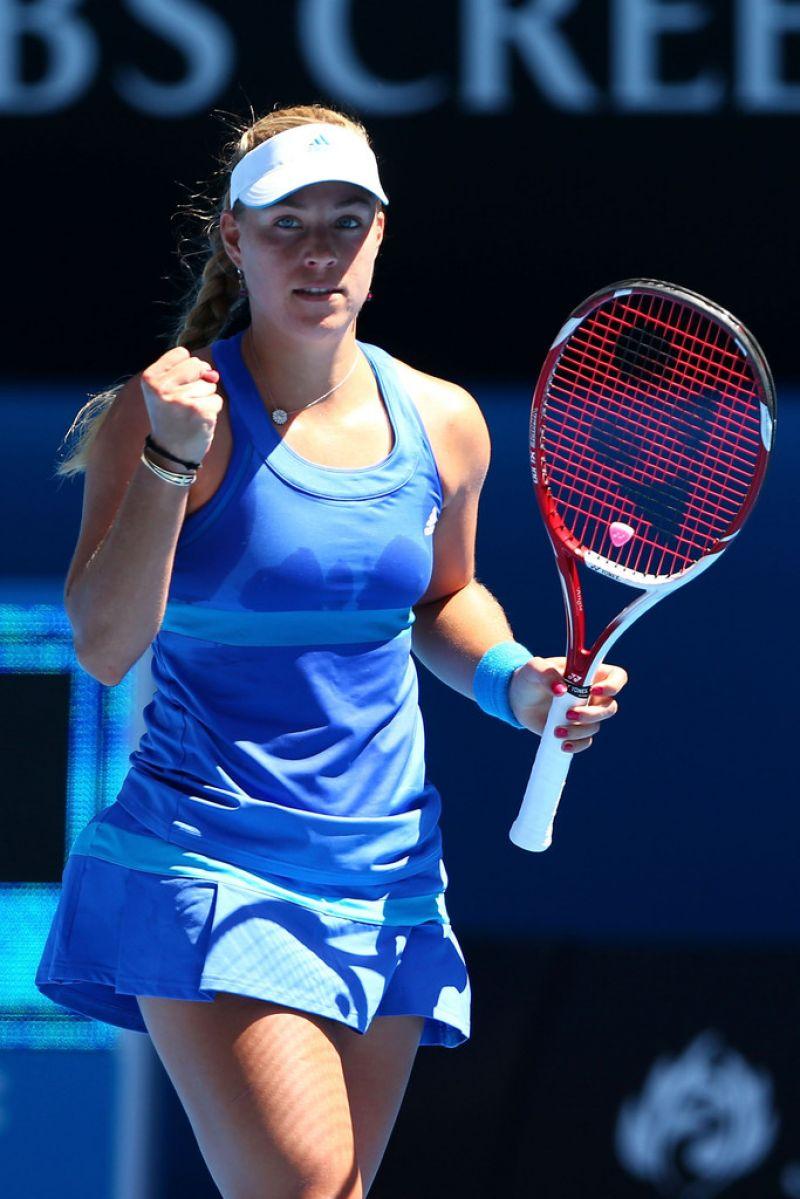 Angelique Kerber - Australian Open in Melbourne, Jan 13 2014