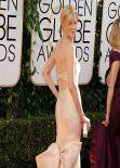 Anna Gunn Wears Donna Karan Atelier at 71st Annual Golden Globe Awards, January 2014
