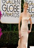 Anna Gunn Wears Donna Karan Atelier at 71st Annual Golden Globe Awards, January 2014