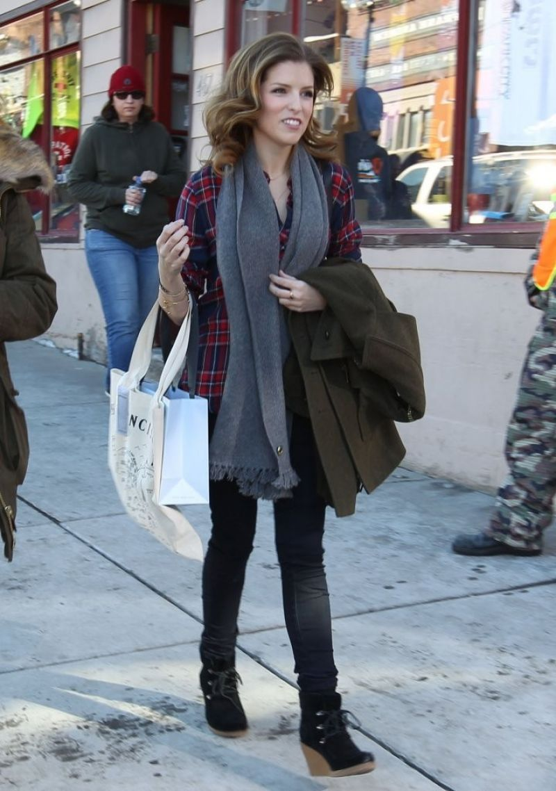 Anna Kendrick Street Style Candids Out In Park City