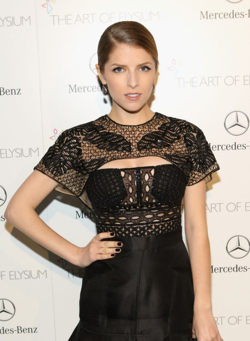 Anna Kendrick Wears J Mendel at 7th Annual HEAVEN Gala in Los Angeles, January 2014