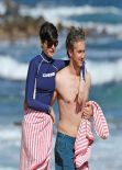 Anne Hathaway at a Beach in Hawaii - January 6, 2014