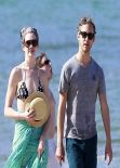 Anne Hathaway in a Bikini at a Beach in Hawaii - January 2014
