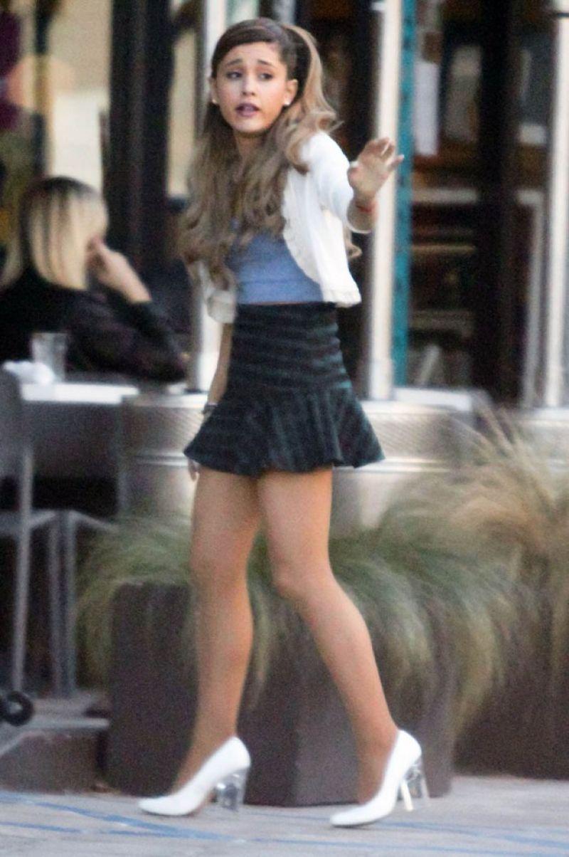 Ariana Grande Has Pretty Legs West Hollywood 2013