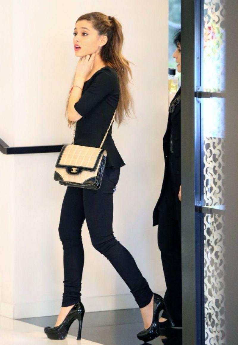 Ariana Grande Shopping At Chanel Hollywood January 2014