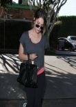 Ashley Benson Street Style - in Spandex out in West Hollywood, January 2014