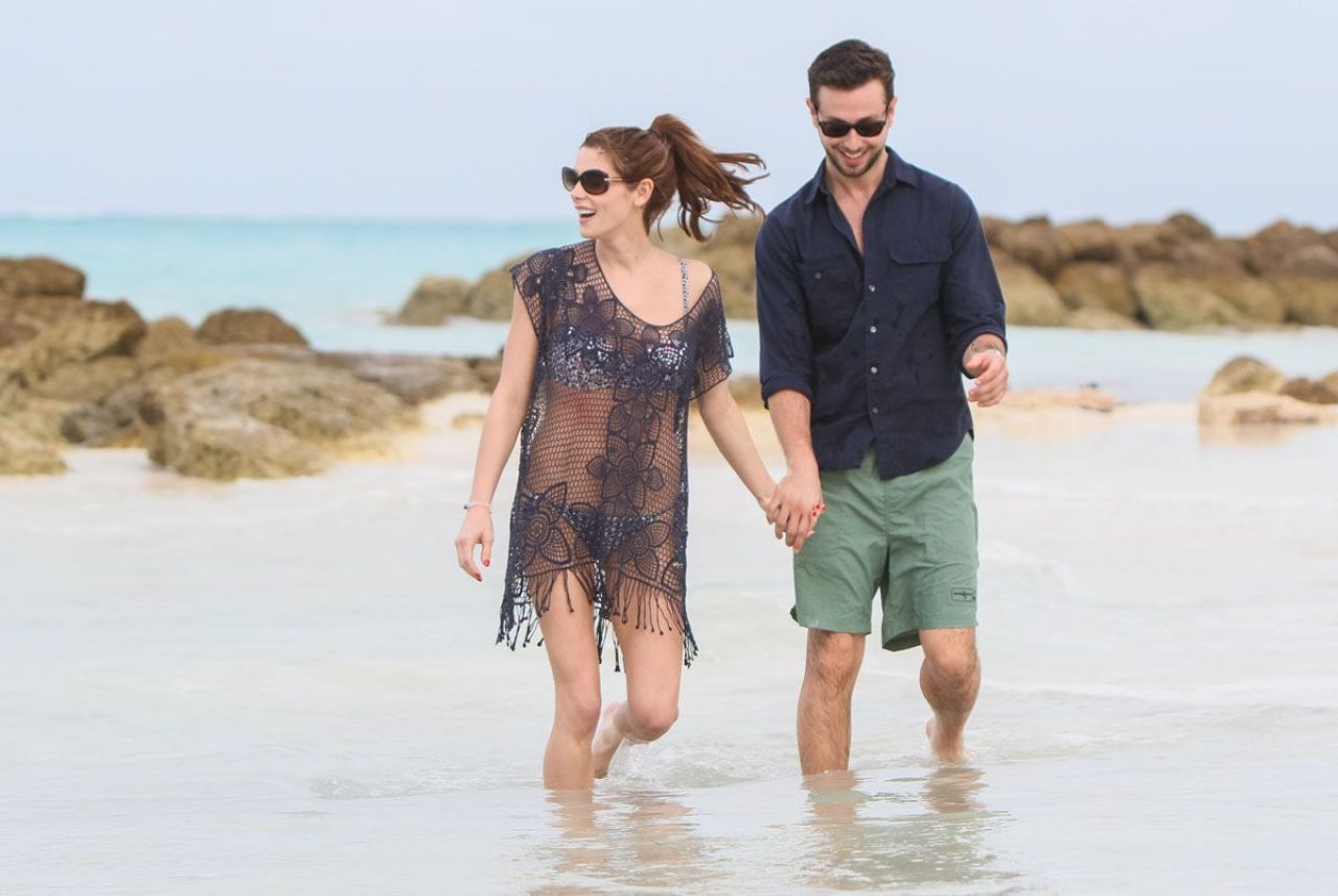 Ashley Greene Candids - at a beach in the Bahamas - January 2014