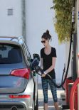 Ashley Greene Seen Pumping Gas in Beverly Hills, January 2014
