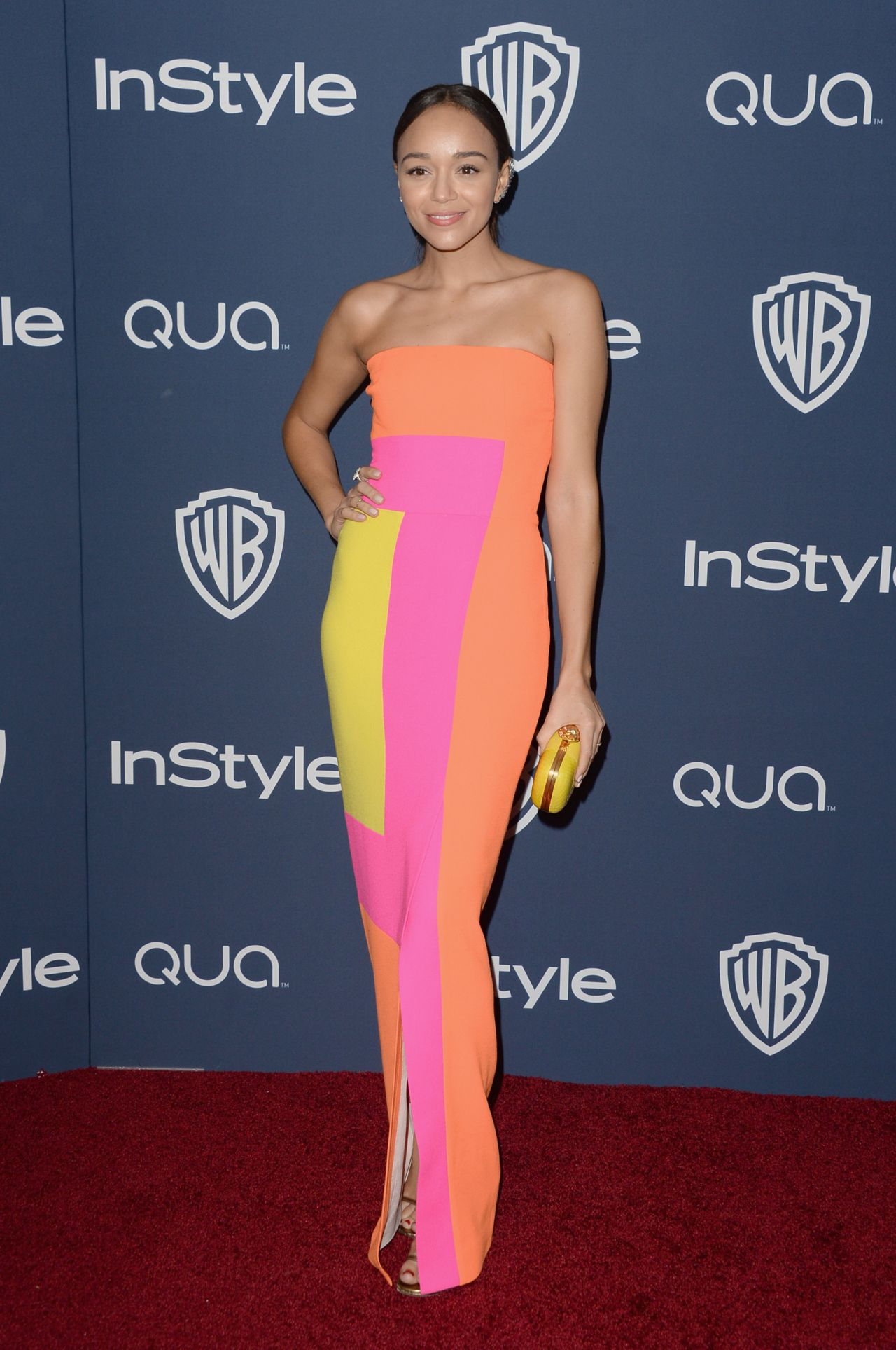 Ashley Madekwe Wearing Roksanda Ilincic at 2014 Golden Globes Afterparty