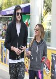 Ashley Tisdale Gym Style - Head into an Equinox Gym - Los Angeles - January 2014