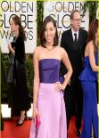 Aubrey Plaza Wears Oscar de la Renta at Golden Globe Awards 2014