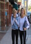 Ava Sambora & Heather Locklear Street Style - in Tights - LA, January 2014