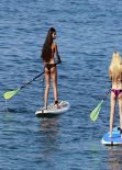 Ava Sambora in a Bikini - Paddle Boarding With Her Friends in Hawaii, January 1, 2014