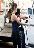 Brenda Song Gym Style - in Leggings and a Tank Top, January 2014