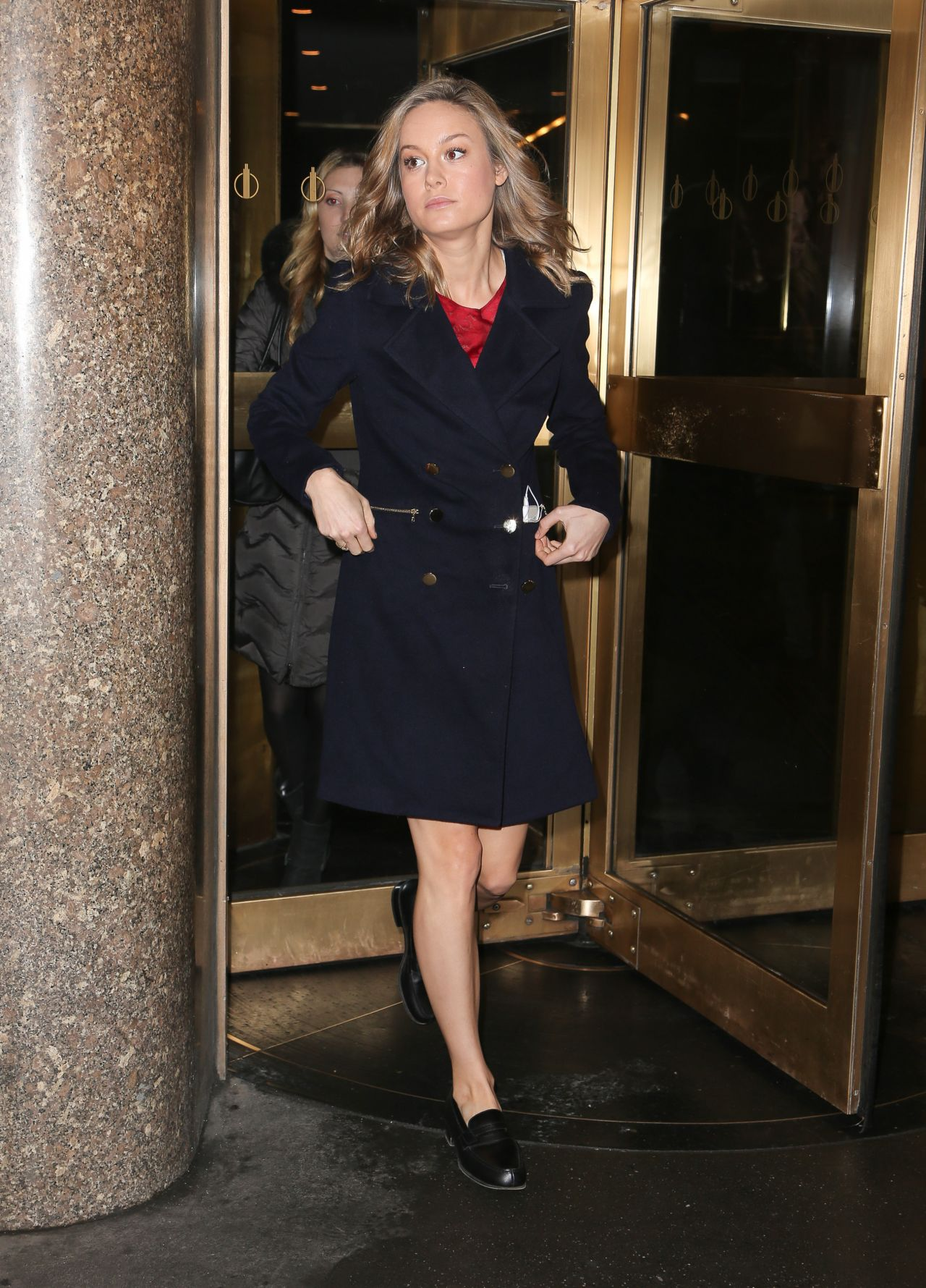 Brie Larson Style Leaving The Nbc Studios In New York